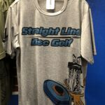 Straight Line Disc Golf Dry Fit Shirt 1 grey small